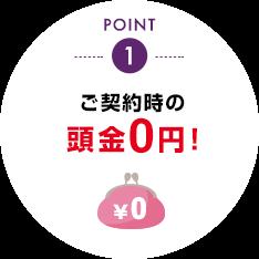 ご契約時の頭金0円!
